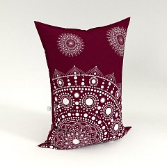 Sedací vak Pillow Mandala Bordó